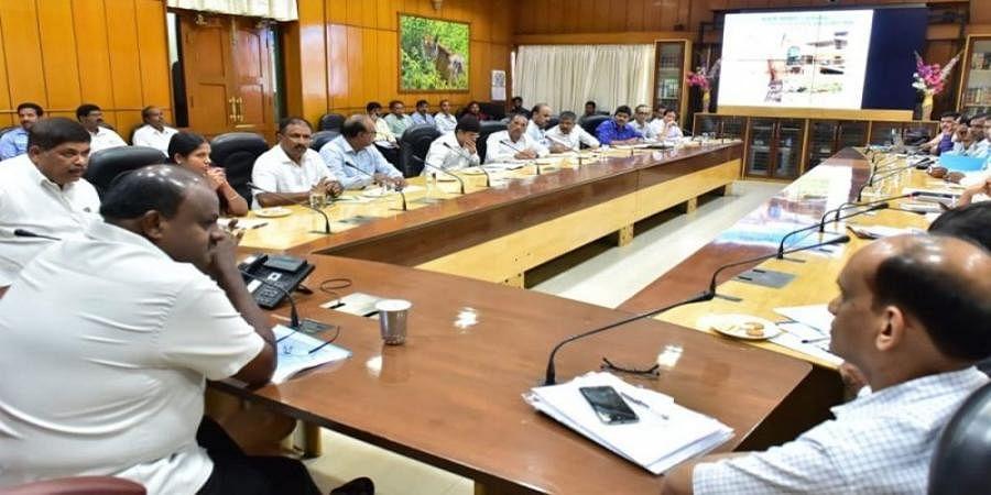 CM HD Kumaraswamy holds high level meeting over farmer loan waiver