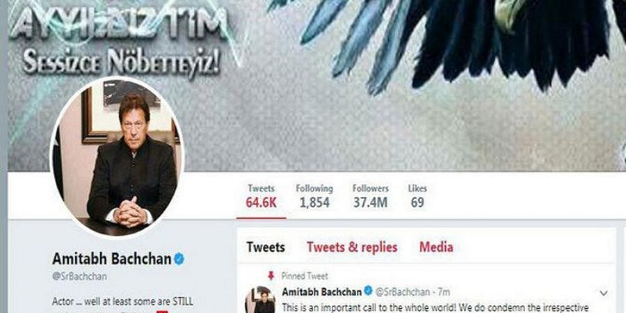 BigB Amithab Bachchan's Twitter account hacked, profile picture changed to Pak PM imran Khan's