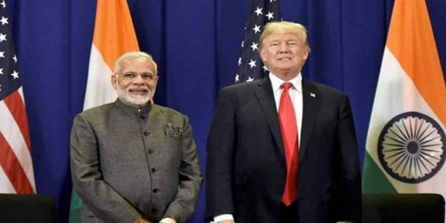 PM Narendra Modi and US president Donald Trump