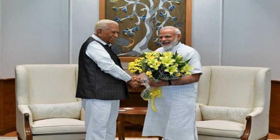 Governer Vajubhai Vala met PM Narendra Modi