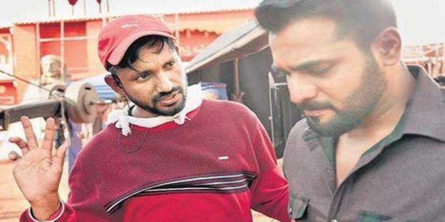 Srimurali and director Chetan Kumar in Bharate