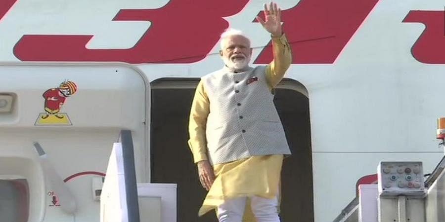 PM Narendra Modi embarks to Kyrgyzstan