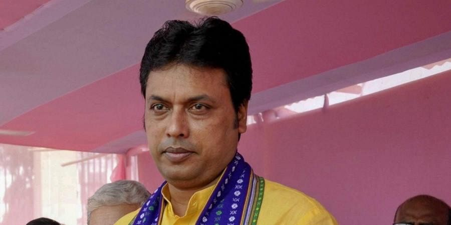 Tripura CM Biplab Kumar Deb (File | PTI)