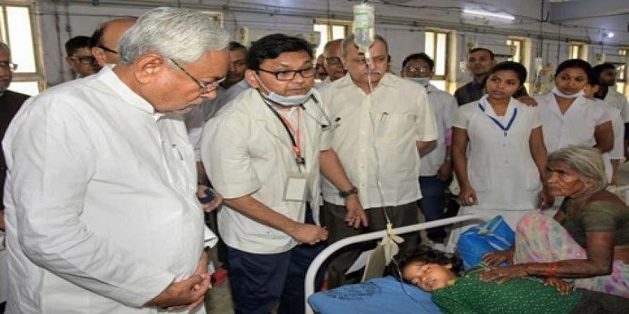Bihar CM Nitish Kumar visited the hospital
