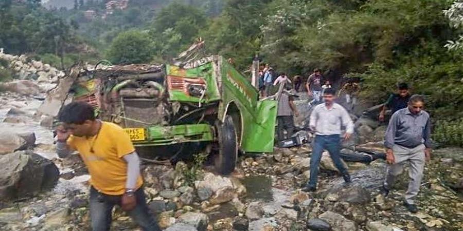 25 dead, 35 injured as bus falls in drain in Himachal Pradesh's Kullu