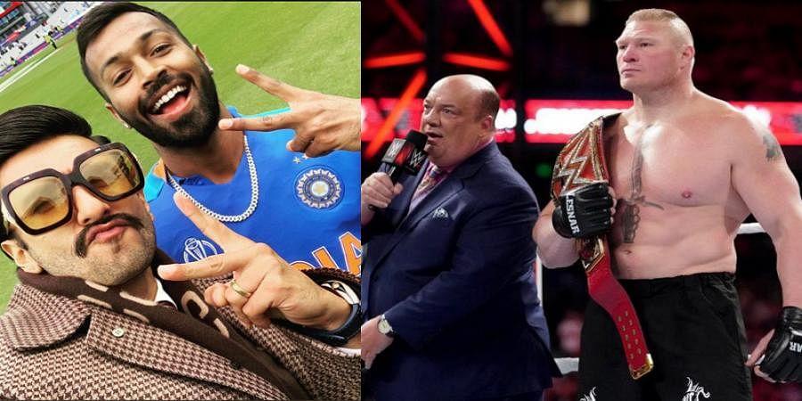 ICC Cricket World Cup 2019: Ranveer Singh Receives Litigation Warning From WWE Star Brock Lesnar's Manager Paul Heyman