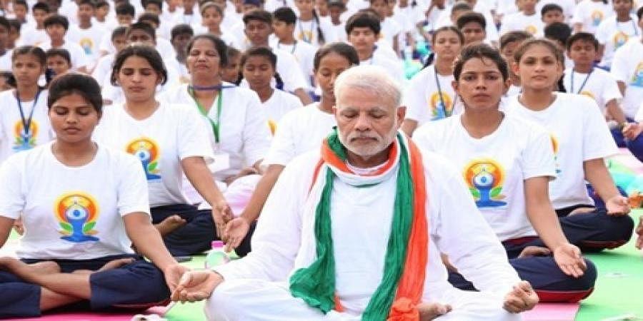 File photo of PM Narendra Modi doing Yoga(file photo)