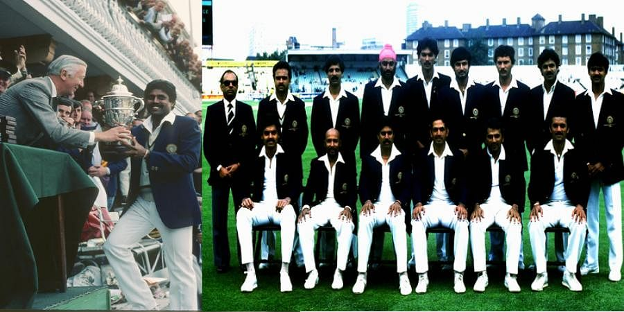 On this day in 1983 - India won the World Cup and held the trophy high at Lord's