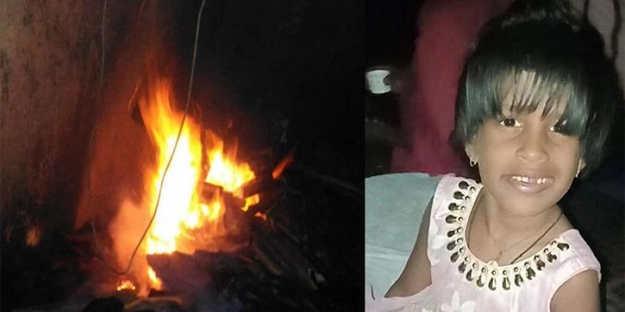 Girl burns alive after setting fire from nandaadeepa at Belagavi