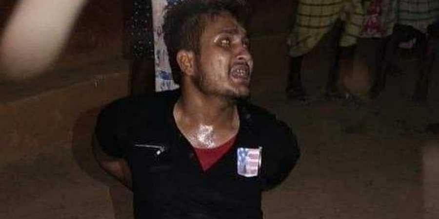 Some locals thrashed Tabrez and later gave him over to the police.