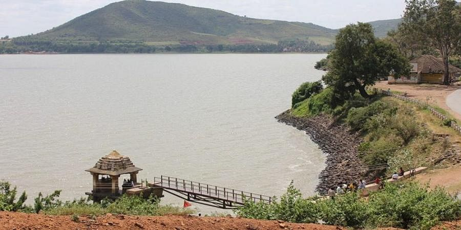 In Davanagere, police guard lake water