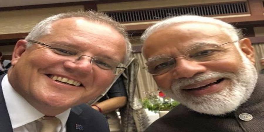 Kithana acha he Modi: Oz PM's selfie with Modi