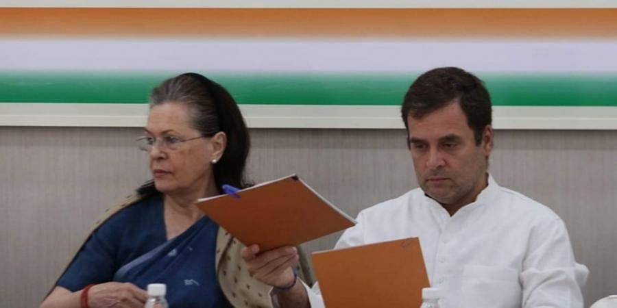 Congress president Rahul Gandhi and UPA chairperson Sonia Gandhi.