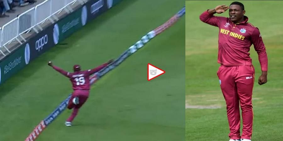 Watch: Sheldon Cottrell Takes Unbelievable Catch To Dismiss Steve Smith