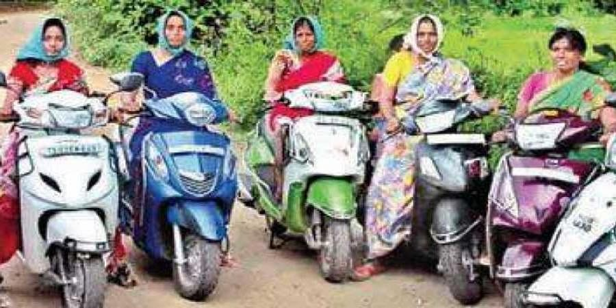 In this Jagtial village, women farmers zoom off on their bikes to fields