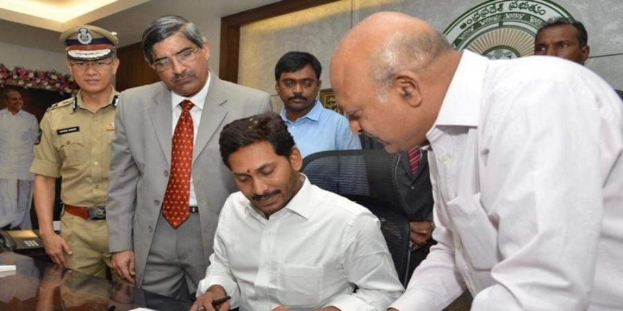 25 ministers sworn in on Jagan's first day in secretariat office, Ministerial berth denied to actress and YSRCP MLA Roja