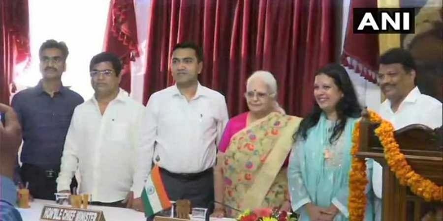 Three Congress defectors, Deputy Speaker inducted into Goa Cabinet