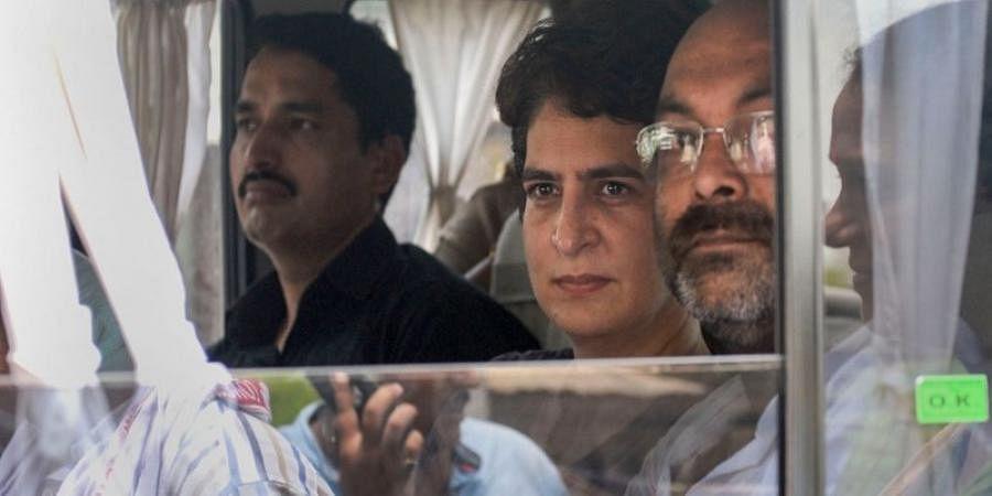 Priyanka Gandhi detained on way to meet kin of firing victims in UP