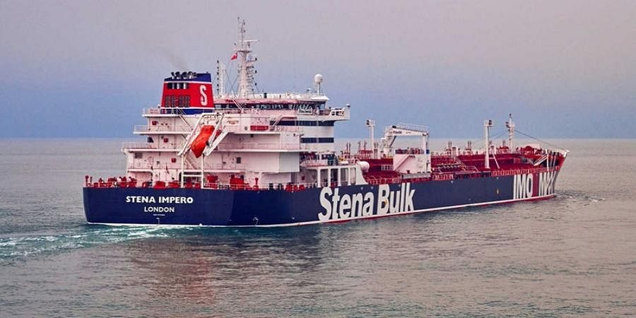 File photograph shows the Stena Impero, a British-flagged vessel owned by Stena Bulk at an undisclosed location.