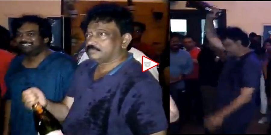 Director Ram Gopal Varma dance in Theatre Goes Viral