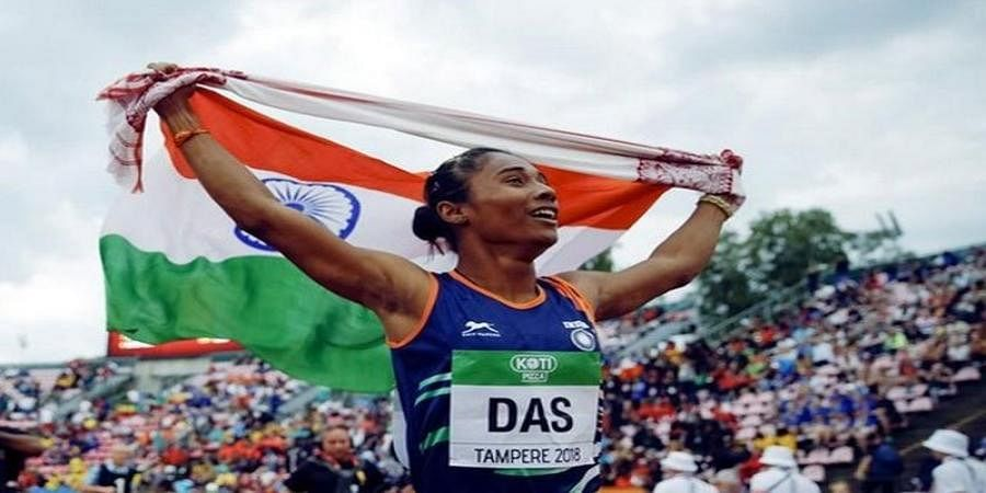 Hima Das bags fifth gold medal in 18 days, records season-best timing in 400m event
