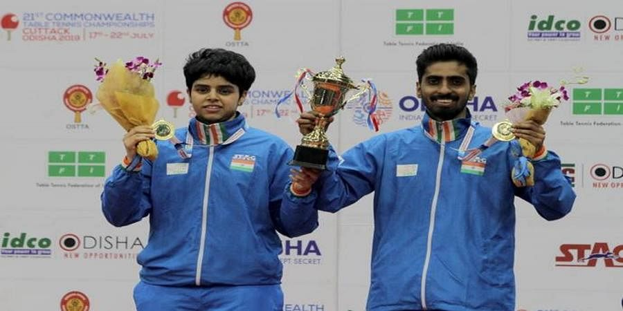 Commonwealth TT: Kannada girl Archana Kamath-Sathiyan pair wins mixed double gold medal