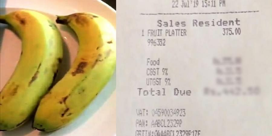 Inquiry after hotel charges Rs 442 for bananas
