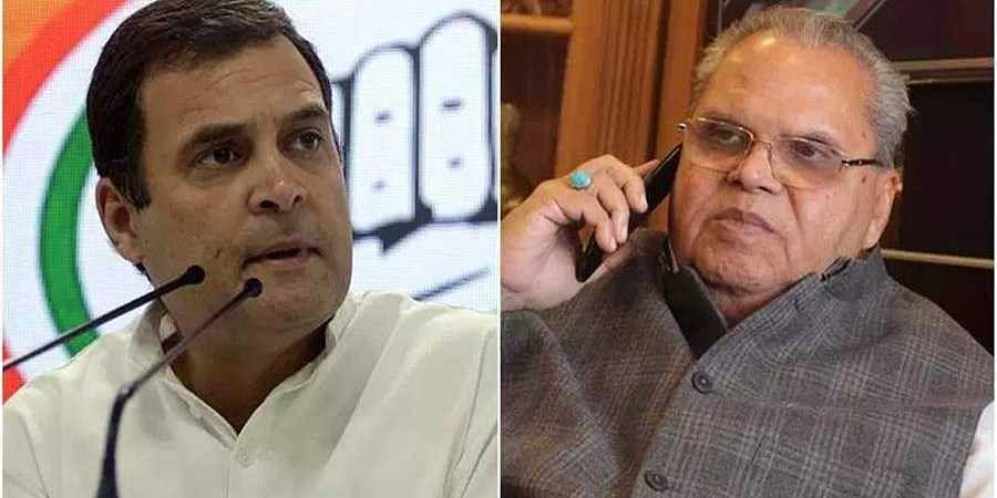 Rahul Gandhi-Governor Satya Pal Malik
