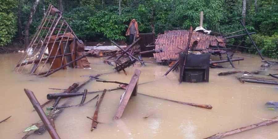 Destruction caused in flood-hit Kodagu district