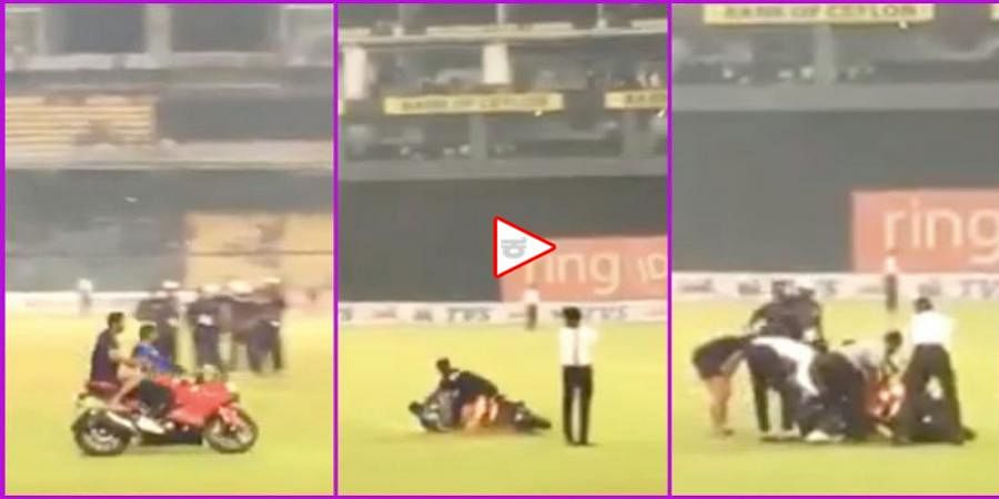 Sri Lankan Cricketer Kusal Mendis falls miserably as bike skids off during post-match celebration