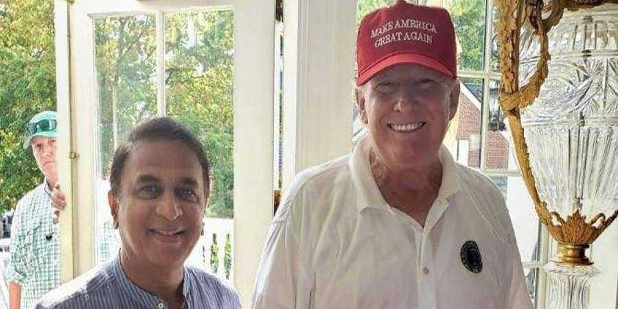 Sunil Gavaskar-Donald-Trump