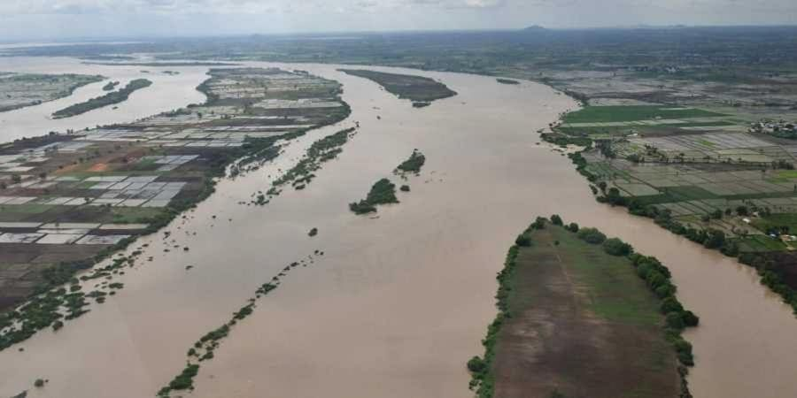 An aerial survey of the flood-affected districts of north Karnataka.