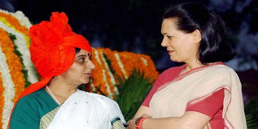 Sonia Gandhi And sushma swaraj