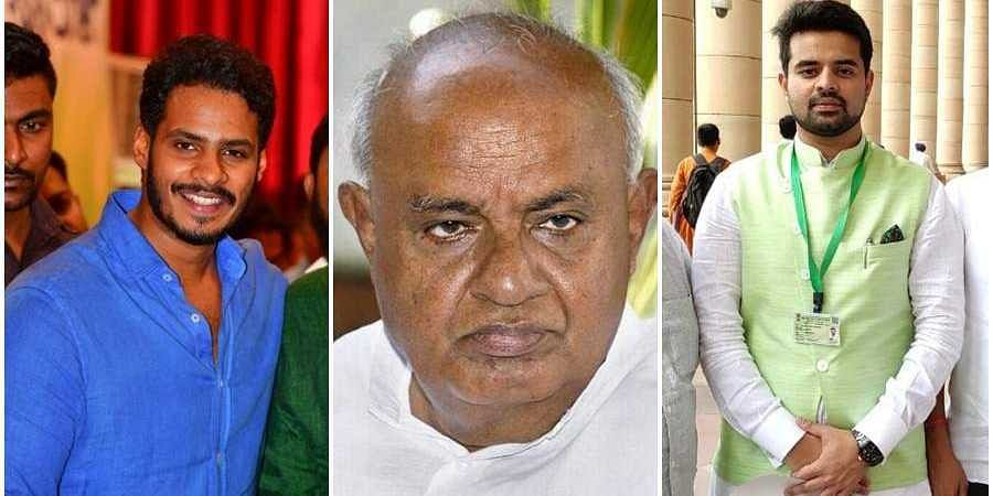 Gowda and grandsons on party-building mission