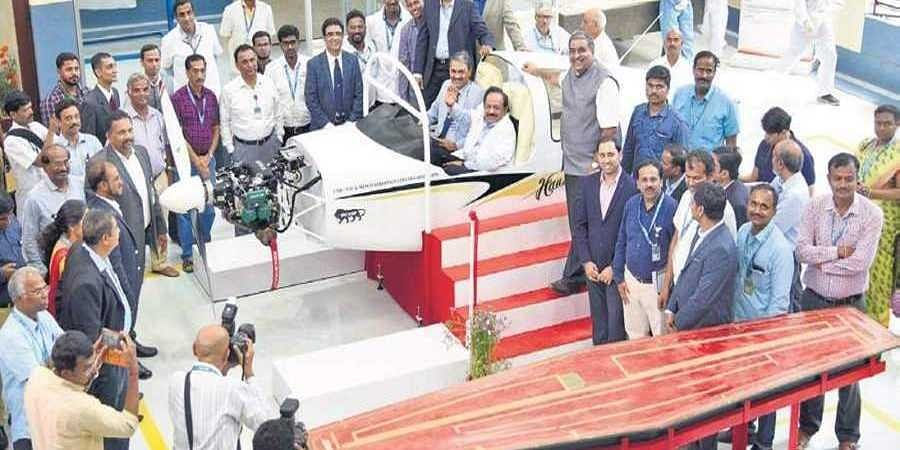 Union Minister Harsh Vardhan during the inauguration of an NAL facility in Bengaluru on Monday