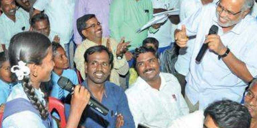 Education Minister Suresh Kumar spends night at school, interacts with kids