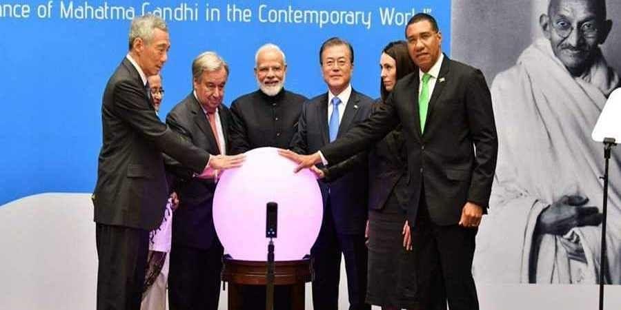 PM Narendra Modi inaugrates Gandhi Solar Park in presence of UN Secretary-General Antonio Guterres