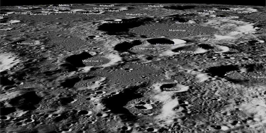 High-resolution images of lunar surface captured by NASA's LROC camera.