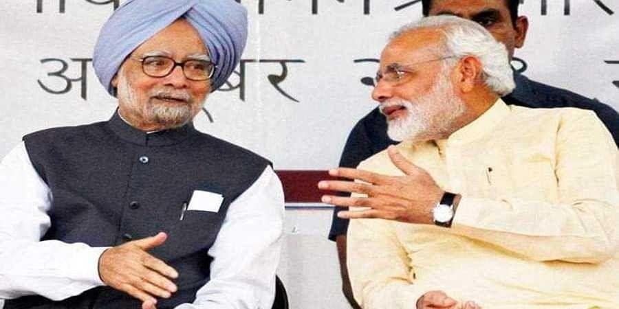 Dr Manmohan Singh and Narendra Modi(File photo)