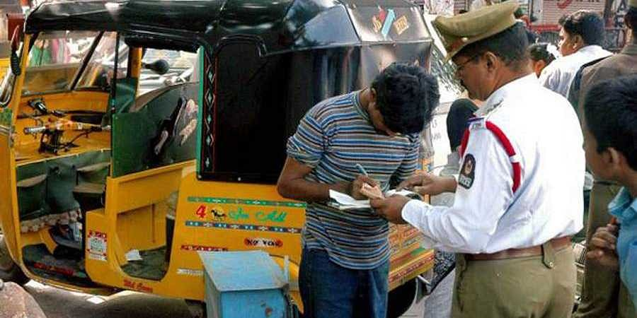 Auto driver in Gurugram fined Rs 32,500 for traffic violations