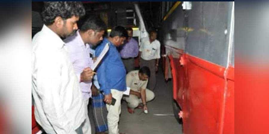 Chamarajnagar: one killed in Bus Accident