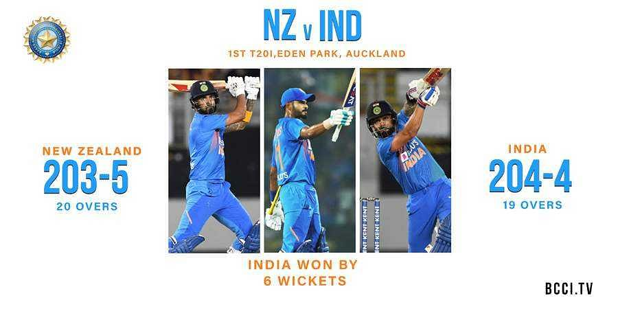 New records set as India thrash New Zealand in first T20I