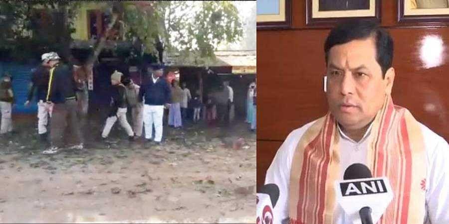 explosions rock Assam