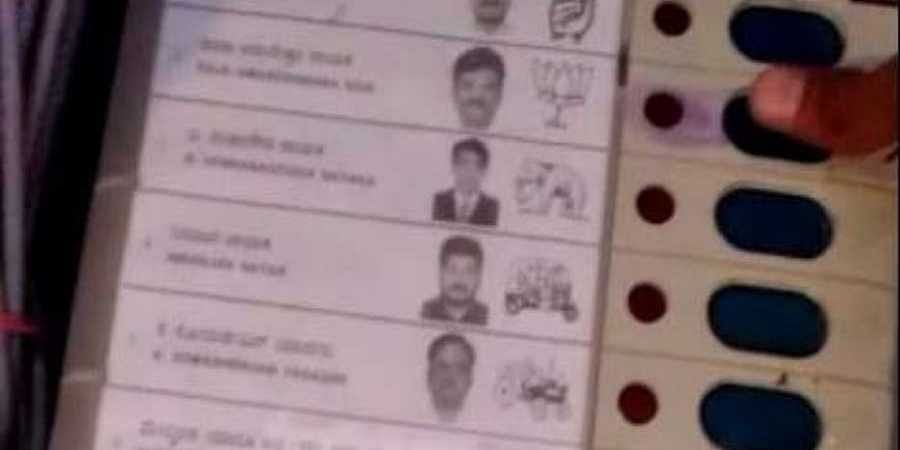 Karnataka LS polls: Blue mark near Raichur BJP candidate slot on EVM raises suspicion