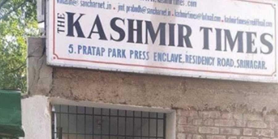 Kashmir Times' Office