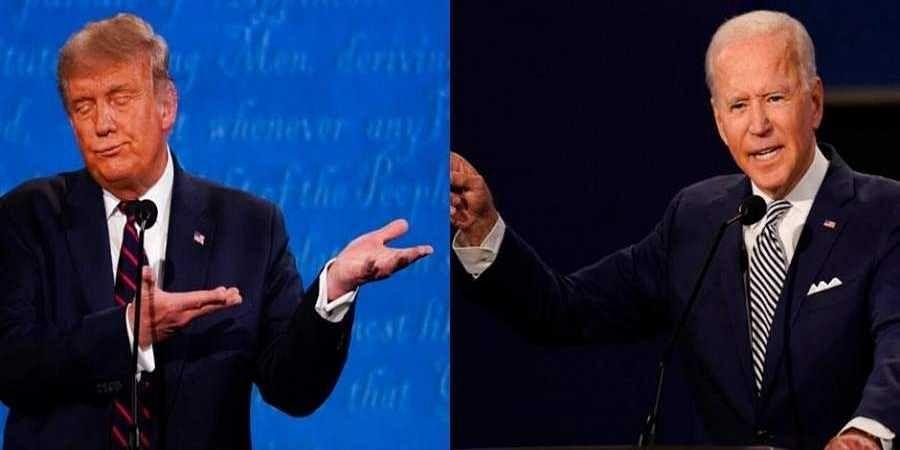 US President Donald Trump (left) and Democratic Party opponent Joe Biden