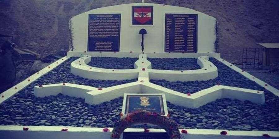 New war memorial built for 20 Galwan warriors