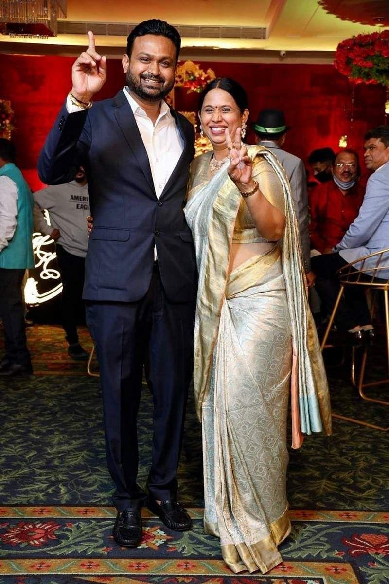 Lakshmi Hebbalkar Son Wedding photo