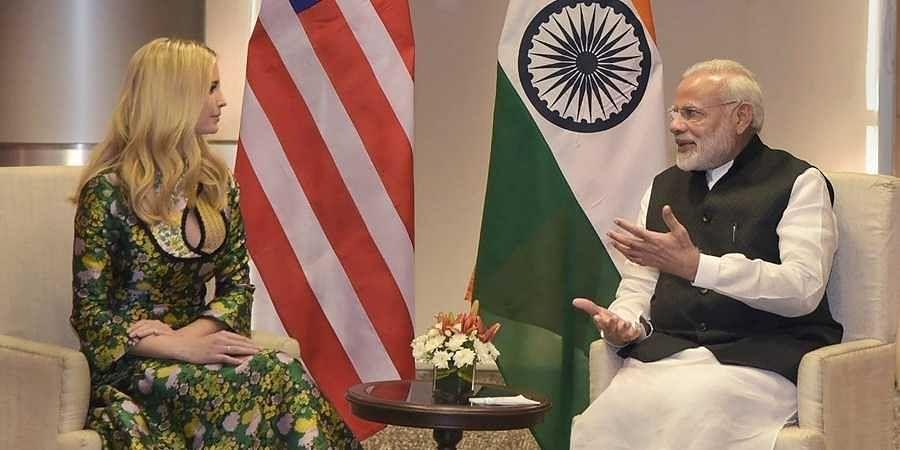 Ivanka Trump, Narendra Modi-1