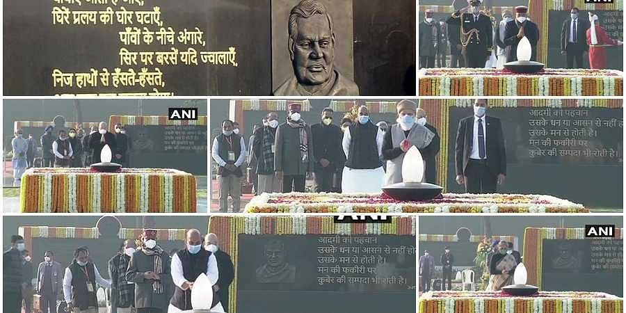 Union ministers, PM and president pays tribute to Ex prime minister Atal Bihari Vajapayee